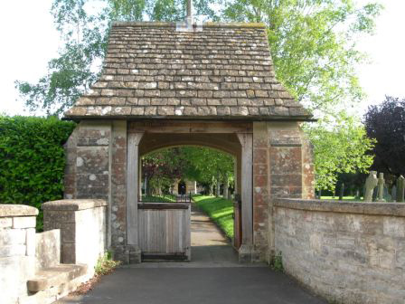 The Lych Gate at St Peter and St Paul Church, North Curry