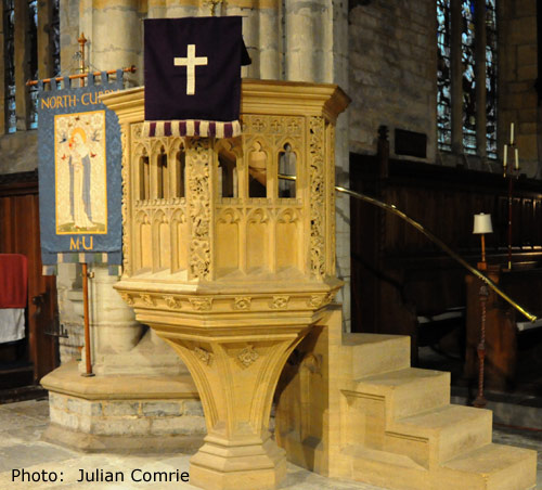 The Pulpit at St Peter and St Paul Church, North Curry